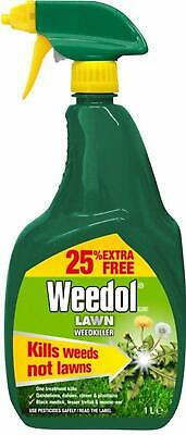 Weedol Lawn Tough Ready To Use 1L Weedkiller 1 2 3 4 Trigger Spray ( Verdone )