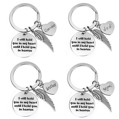 Memorial Keychain I Will Hold You In My Heart Until I Hold You In Heaven Keyring