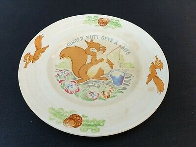 "George Clews Plate ""Ginger Nutt"" by David Hand GB Animation 17 cm diameter"