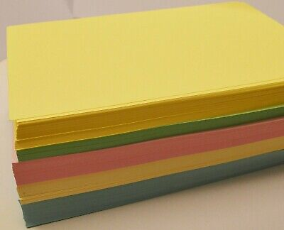 A4 Pastel Coloured Card (160gsm) - Pink, Yellow, Cream, Blue, Green, Mixed FP&P