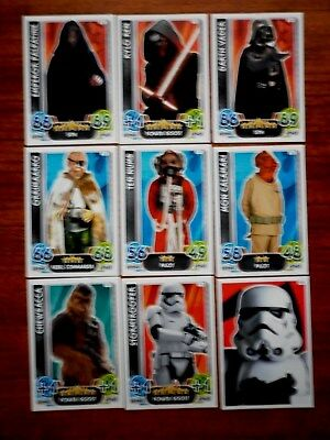 Star Wars - Force Attax Lot Of 9  (Topps collector cards) Lot 10