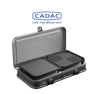 Cadac 2-Cook 2 Deluxe Two Burner Gas LPG Camping Stove & Griddle Plates 2019