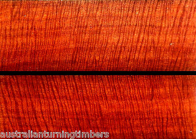 Intense Australian Fiddleback Red Gum Wood Knife Scales (Bookmatched)
