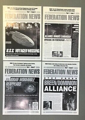 Star Trek Federation News Job Lot (10 issues) Collectable Sci Fi Iconic Magazine