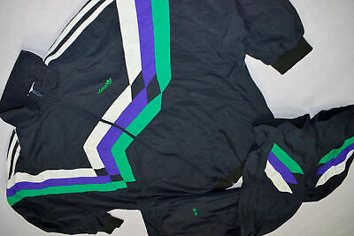ADIDAS TRAININGS ANZUG Jogging Track Jump Shell Suit Vintage Casual 90er 90s XL