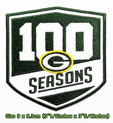 Green Bay Packers 100SeasonsFootball Sport Patch Logo Embroidery Iron,Sewing on