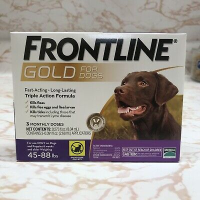 Frontline GOLD For Dogs 45-88lb 3 Pack Dose