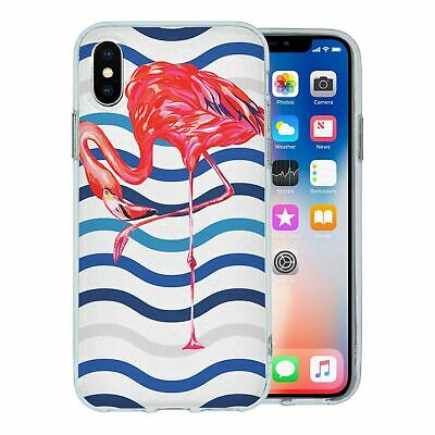 Pour Apple Iphone X Étui en Silicone Flamant Rose Tropical Motif - S5636
