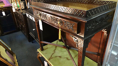 Georgian style Antique Console Table and Drawers with galleried top