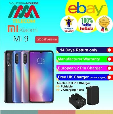 Brand New Factory Unlocked Xiaomi Mi 9 128Gb Black Global Version Fast Delivery