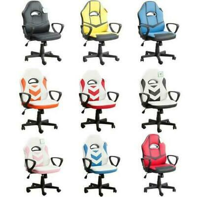 Executive Gaming Racing Computer Office Chair 360 Swivel Soft Pu Leather Uk