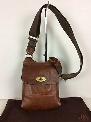 add32b2d25d Authentic Mulberry Small Anthony Crossbody Bag. Oak Leather. Exc Condition.
