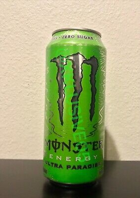 NEW! Monster Energy Drink ULTRA PARADISE 1 Full Can Silver Top