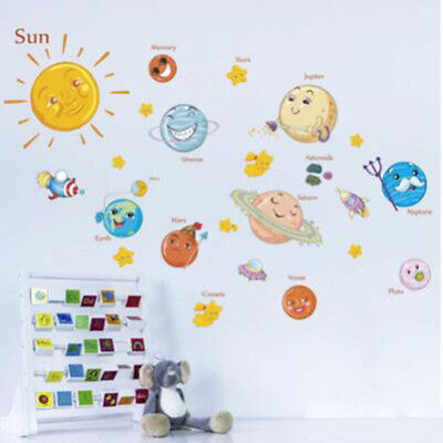 DIY Solar System Stars Outer Space Wall Decor Wall Stickers For Baby Child Room