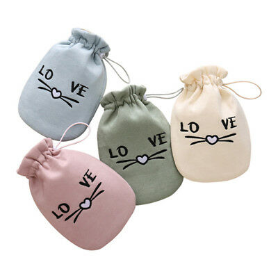 Cartoon Letter Print Plush Hot Water Bottle Warm Relaxing Heat / Cold Bag Gift L