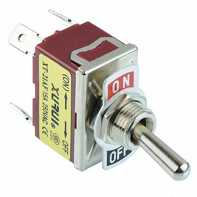 On-Off DPST Toggle Switch 250V AC 15A