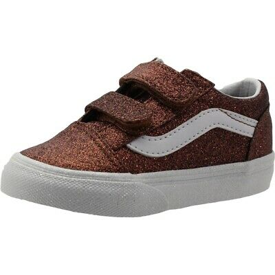 40552c2c50b VANS TD OLD Skool V Bronze Glitter Infant Trainers Shoes -  53.10 ...