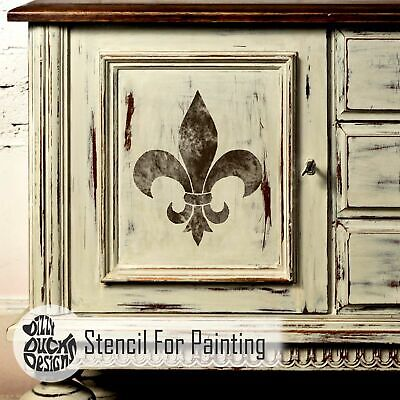 Fleur De Lys Wall Furniture Stencil for Painting
