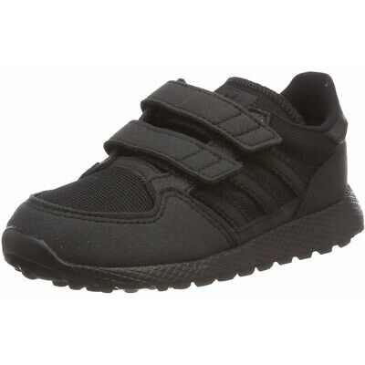 adidas Originals Forest Grove CF I Black Synthetic Suede Infant Trainers Shoes
