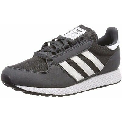 adidas Originals Forest Grove J Grey Six Synthetic Suede Youth Trainers Shoes