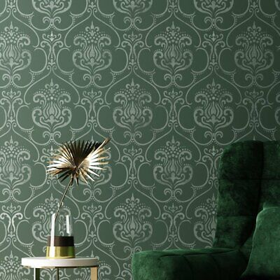 Karim Damask Wall Furniture Craft Stencil for Painting