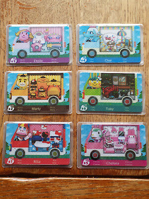 Lot de 6 cartes Animal Crossing Sanrio neuves