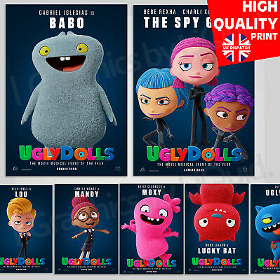 Ugly Dolls 2019 Adventure Movie Nick Jonas Character Posters | A4 A3 A2 A1
