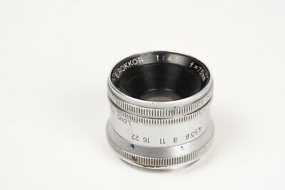 Minolta E.Rokkor  1:4,5  f=75MM enlarger lens, Screw mount 39mm READ DESCRIPTION