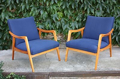 Loungechairs Easychairs blau Paar/Set of 2  50´er/60´er Jahre