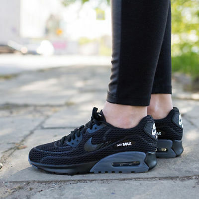 new style 6ac14 33548 Womens Nike Air Max 90 Ultra Breathe Sneakers New, Black Grey 725061-002 no