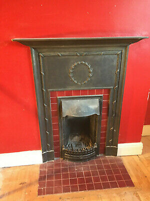 Victorian Cast Iron Tiled Fireplace & Surround.  Great Condition!!