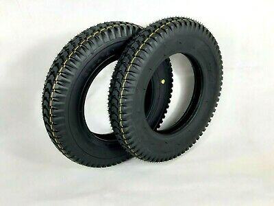 Pair of 3.00-8 (300x8) Black Mobility Scooter, Wheelchair Tyres (Good Care)