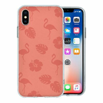 Pour Apple Iphone X Étui en Silicone Flamant Rose Tropical Motif - S5639