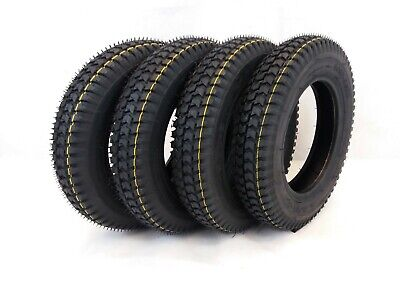 Set of 4, 3.00-8 (300x8) Black Mobility Scooter, Wheelchair Tyres (Good Care)