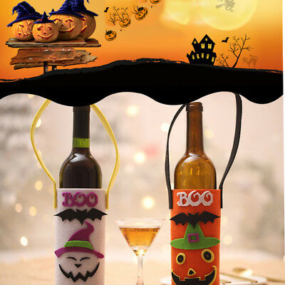 Halloween Wine Bottle Cover Drawstring Candy Stack Bag Cover Party Decoration GA
