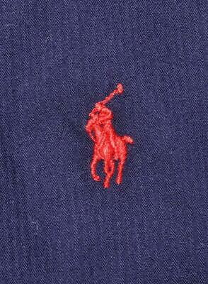 NWT Ralph Lauren POLO XL Custom Fit solid french navy blue red pony shirt (  c498714bf66