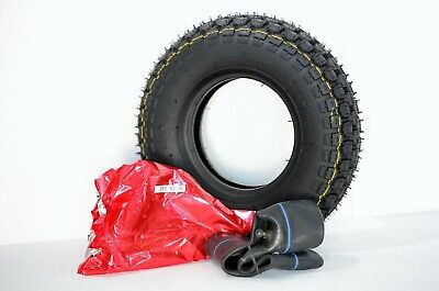 1x, 4.10/3.50-6 Black Mobility Scooter Wheelchair Power Chair Tyre & Tube.