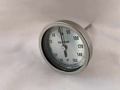 "REOTEMP 3"" BIMETAL THERMOMETER with 6' stem"