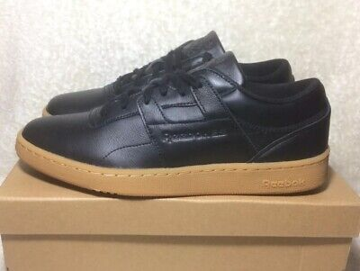 REEBOK CLUB WORKOUT Classic Trainers Mens Size 8uk BS6206 Black Gum New Rare