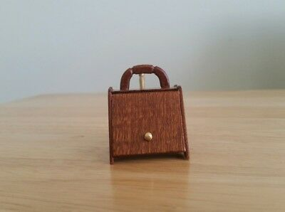 Dolls House Miniature Handmade Wooden Mahogany Coal Box 1.12 Scale