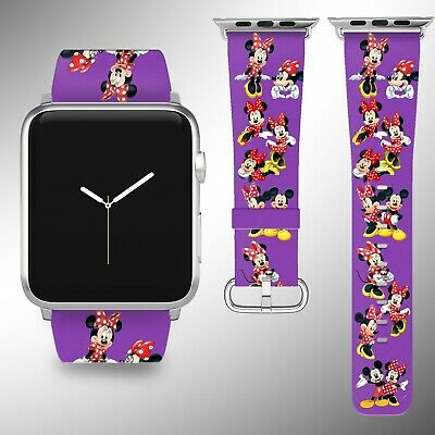 Mickey Minnie Mouse Apple Watch Band 38 40 42 44 mm Series 1 - 5 Wrist Strap 7