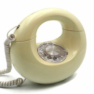 1970's Vintage White Donut Western Electric Push Rotary Phone