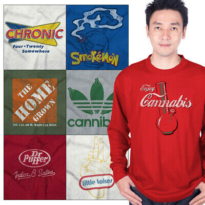 Long Sleeved Tee Stoner Graphic T For Men Women Weed Tees Shirt Pot Gift Tshirt