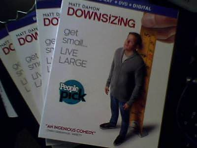 Downsizing (Blu-ray, 2018) Bluray Only - Opened - Unwatched Bluray