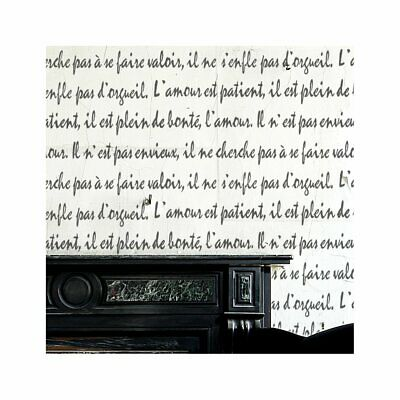 French Script Wall Furniture Stencil For Painting