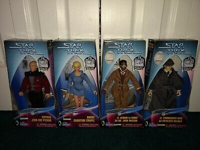 "Star Trek 9"" Playmates STARFLEET COMMAND ALL MISP! Picard Data Sherlock Geordi"