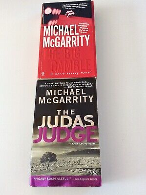The Judas Judge & The Big Gamble By Michael McGarrity - 2 Paperback Books