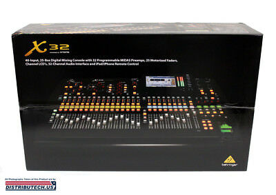 Behringer X32 FULL 32-CH/40-Input, 25-Bus Digital Mixing Console X-32 Brand New