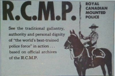 RARE DVD SET = ROYAL CANADIAN MOUNTED POLICE RCMP w/case (NOT FROM TV RERUNS)