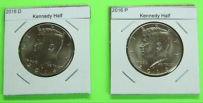 2016 PD  Kennedy Half 2 coin set from Mint Bags - Free Shipping